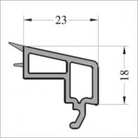 Штапик 23 мм 6м черное уплотнение