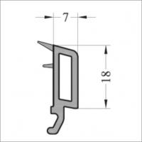 Штапик 7мм 6м серое уплотнение