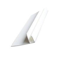 Закрывающий F профиль белый 25x45 6м
