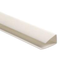 Стартовый U профиль 20 мм белый 3м