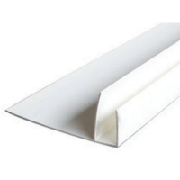 Закрывающий F профиль белый 10x60 3м