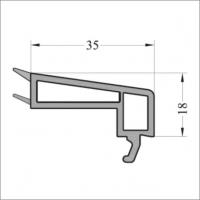 Штапик 35 мм 6м серое уплотнение