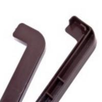 Торцевая заглушка на отлив 360мм коричневая