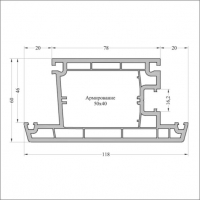 Створка двери Т118 6,5м 70