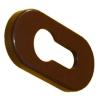 Накладка на личинку ЕСО овальная коричневая